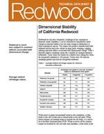 Dimensional Stability of California Redwood