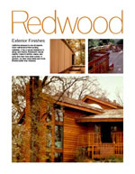 Redwood Exterior Finishes
