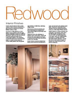 Redwood Interior Finishes