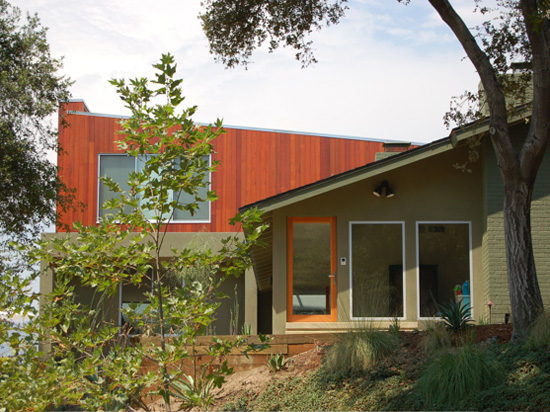 redwood siding modern home